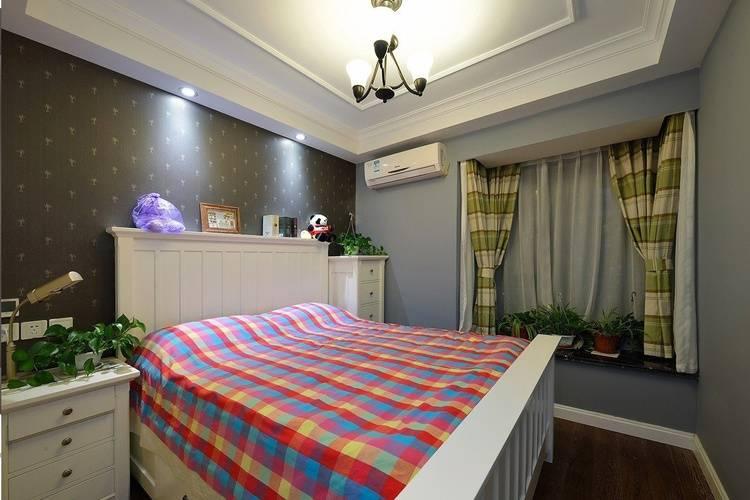 90平米简约美式风格卧室案例图